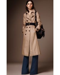 Burberry - Brown Luggage Stitch Slim Fit Trench Coat - Lyst