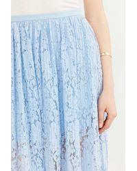 Kimchi Blue - Blue Stand Still Lace Maxi Skirt - Lyst