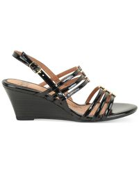 Söfft - Black Posh Wedge Sandals - Lyst