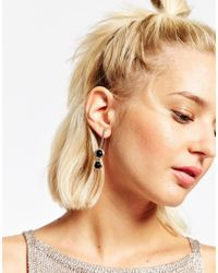 ASOS | Black Bubble Drop Swing Earrings | Lyst