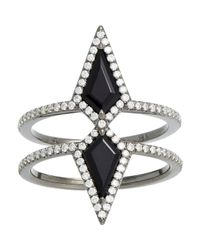 Eva Fehren | Black Double Ezzat Ring | Lyst