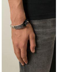 DIESEL | Black 'aligos' Bracelet for Men | Lyst