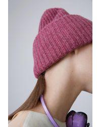 Acne - Pink Melange Pansy H Wool - Lyst