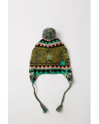 Acne - Fa-ux-hats000023 Black/yellow/green Knit Ear Flap Hat for Men - Lyst