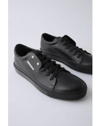 Acne - Black Adrian Smiley Sneakers for Men - Lyst