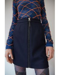 Acne | Blue Suraya Flannel navy | Lyst