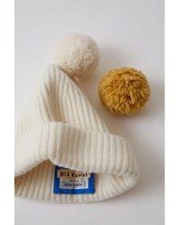 Acne - Multicolor Beanie Hat ecru - Lyst