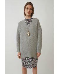 Acne Studios Deka L-wool pale Grey Melange in Gray - Lyst 6b6667631