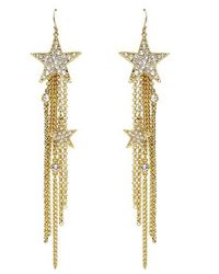 Ben-Amun | Metallic Star Fringed Earrings | Lyst