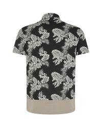 Moncler - Black Hawaiian Polo Shirt for Men - Lyst