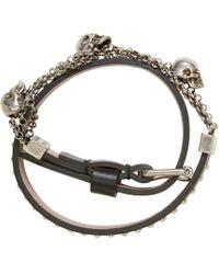 Alexander McQueen | Black Gold Charm Chain Wrap Bracelet | Lyst