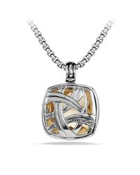 David Yurman | Metallic Albion Pendant With Gold | Lyst