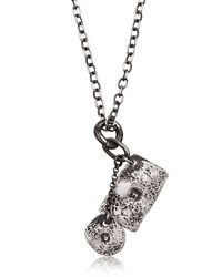 Henson | Metallic Hallmarked Tags Necklace for Men | Lyst