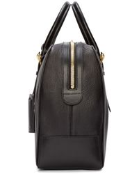 Thom Browne - Black Leather Duffle Bag for Men - Lyst