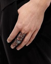Staurino Fratelli | Moresca Blackened White Gold & Diamond Ring | Lyst