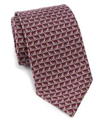Ferragamo - Purple Butterflyprint Silk Tie Magenta for Men - Lyst