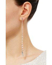 Ryan Storer - Pink Rose Gold Reverse Graduated Swarovski Crystal Drop Earrings - Lyst