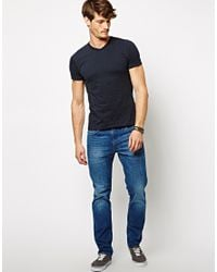French Connection - Blue T-shirt V-neck for Men - Lyst