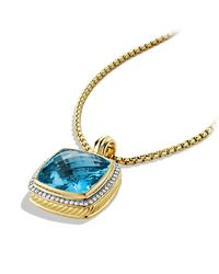 David Yurman - Metallic Albion Pendant, 20mm Gemstone - Lyst