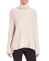 Rag & Bone | White Ribbed Turtleneck Sweater | Lyst