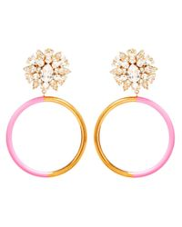 Shourouk | Pink Zulu Clipon Earrings | Lyst