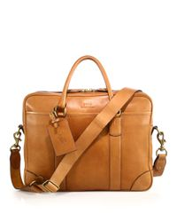 Polo Ralph Lauren | Brown Leather Commuter Bag for Men | Lyst
