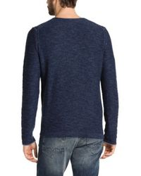 BOSS Orange | Blue Cotton Sweater 'abramo' for Men | Lyst