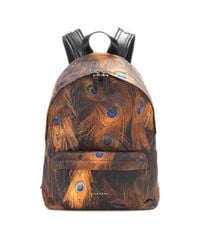 Givenchy - Orange Printed Backpack - Lyst