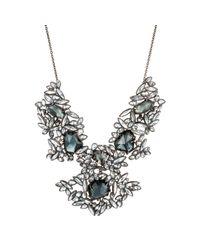 Alexis Bittar - Metallic Liquid Crystal Cluster Bib Necklace - Lyst