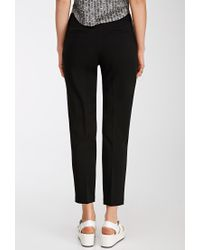 Forever 21 - Black Stitched-crease Pants - Lyst