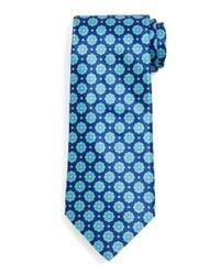 Stefano Ricci - Blue Medallion-pattern Silk Tie for Men - Lyst