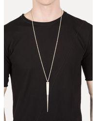 Parts Of 4 | Metallic Acid Silver + Bone Big Spike Necklace for Men | Lyst
