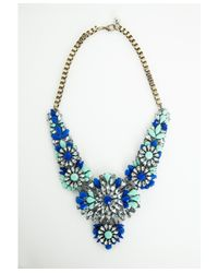 Missguided - Blue Jailyn Encrusted Statement Necklace - Lyst