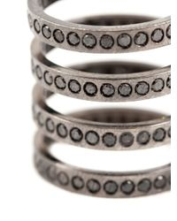 Repossi | Black Diamond Four Row Ring | Lyst