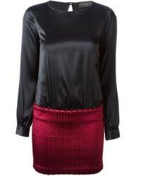 Christian Pellizzari - Black Contrasting Top And Bottom Dress - Lyst