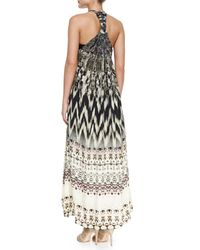 Camilla - Gray Printed Bead Cover-Up - Lyst