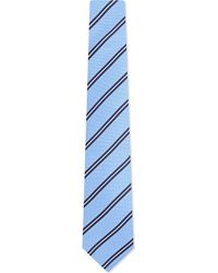Eton of Sweden | Blue Two Tone Striped Silk Tie for Men | Lyst