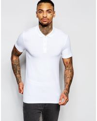 ASOS | Extreme Muscle Polo Shirt In White for Men | Lyst