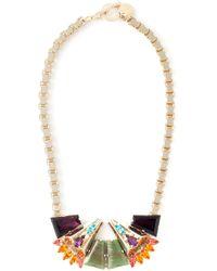 Anton Heunis | Metallic Crystal Embellished Necklace | Lyst