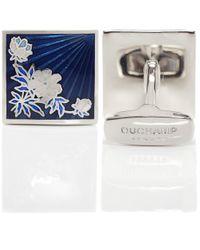 Duchamp Blue Floral Sunrise Cufflinks for men