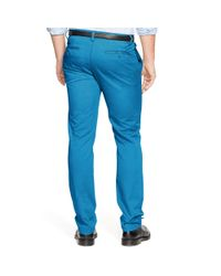 Polo Ralph Lauren - Blue Straight-fit Cotton Chino for Men - Lyst
