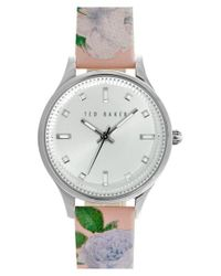 Ted Baker - Multicolor 'dress Sport' Patent Leather Strap Watch - Lyst