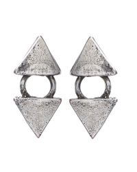 Jill Golden | Metallic Reflection Stud | Lyst