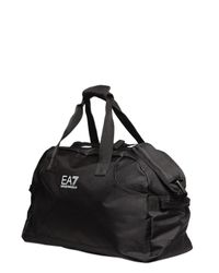 Emporio Armani - Black Nylon Canvas Duffle Bag - Lyst