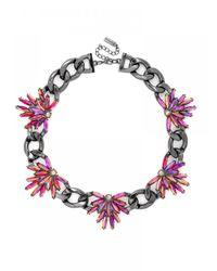 BaubleBar - Metallic Pink Feather Curb Collar - Lyst