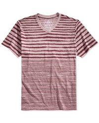 American Rag | Red Paint The Stripe T-shirt for Men | Lyst