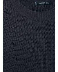 Mango | Blue Chunky-knit Sweater | Lyst