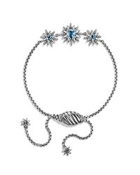 David Yurman | Starburst Bracelet With Blue Topaz | Lyst