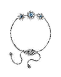 David Yurman - Starburst Bracelet With Blue Topaz - Lyst