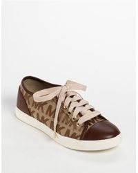 MICHAEL Michael Kors - Brown Mk City Sneakers - Lyst